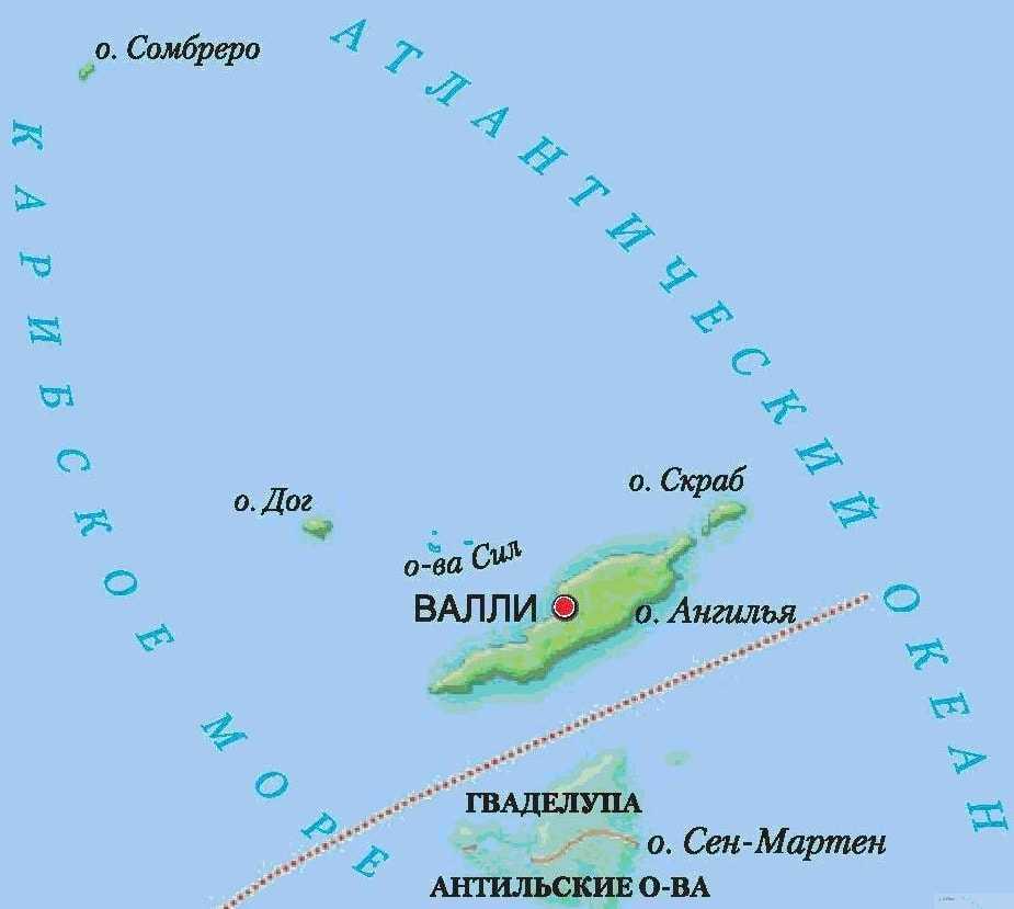 Карта государства Ангилья