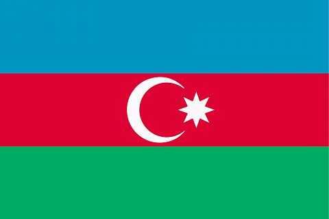 Флаг государства Азербайджан