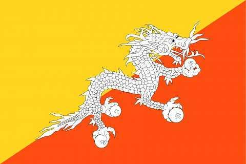 Флаг страны Бутан
