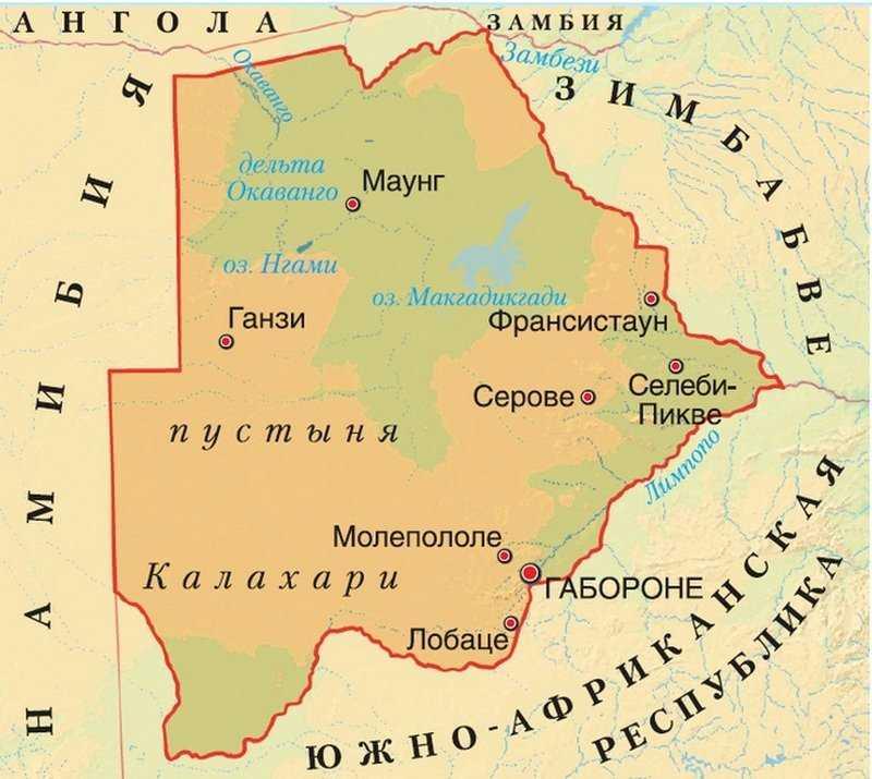 Ботсвана карта