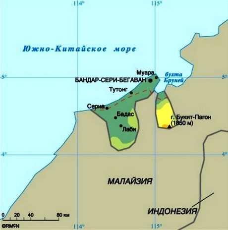 Бруней-Даруссалам карта
