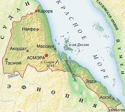 Карта Эритреи