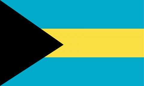 Флаг государства Багамские острова