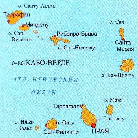 Кабо-Верде карта
