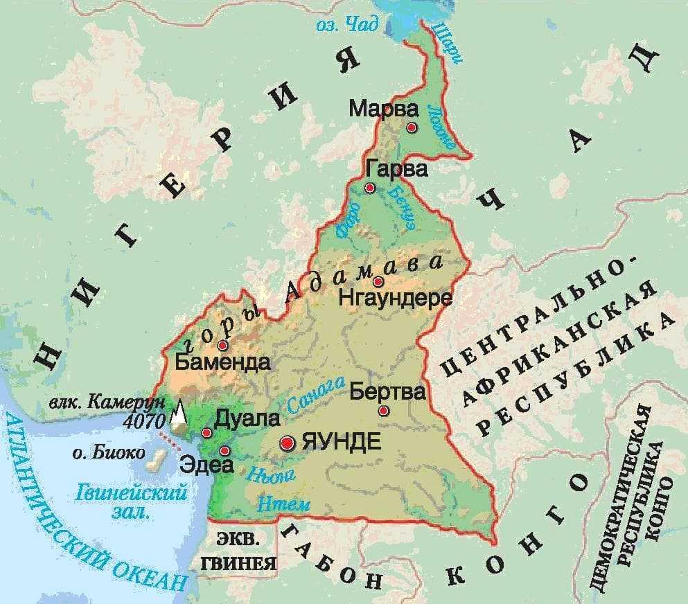 Камерун карта