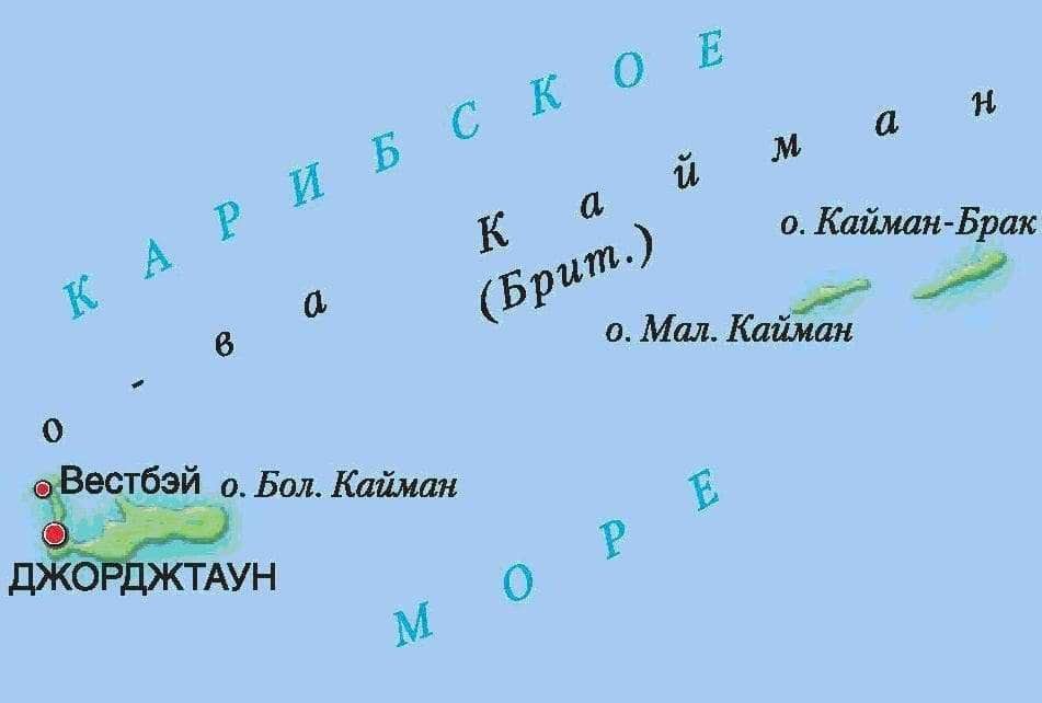Каймановы острова карта