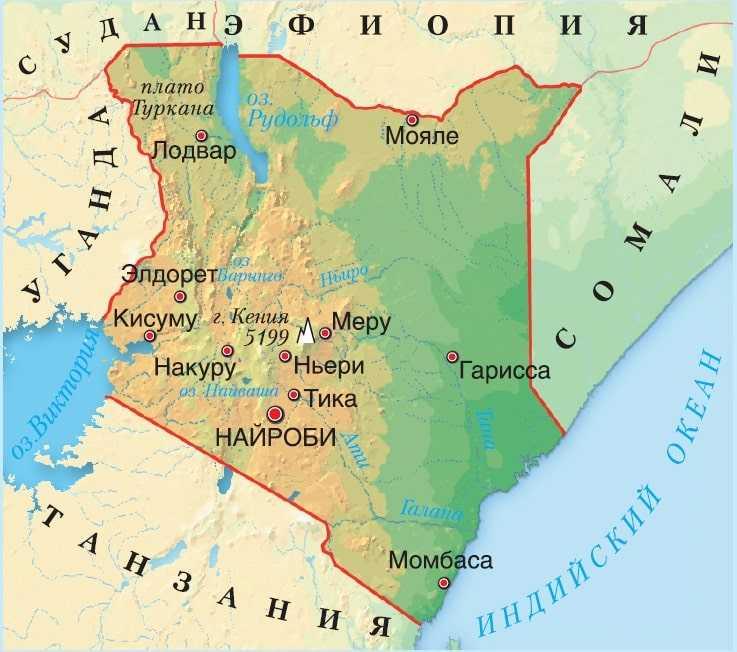 Кения карта