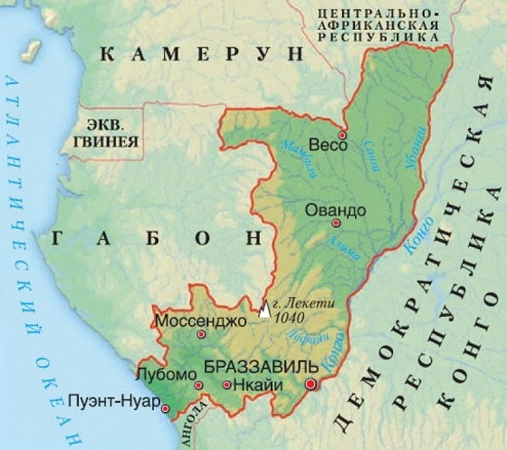 Конго на карте
