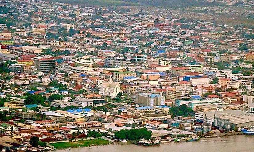 Крупнейшие города Гайаны