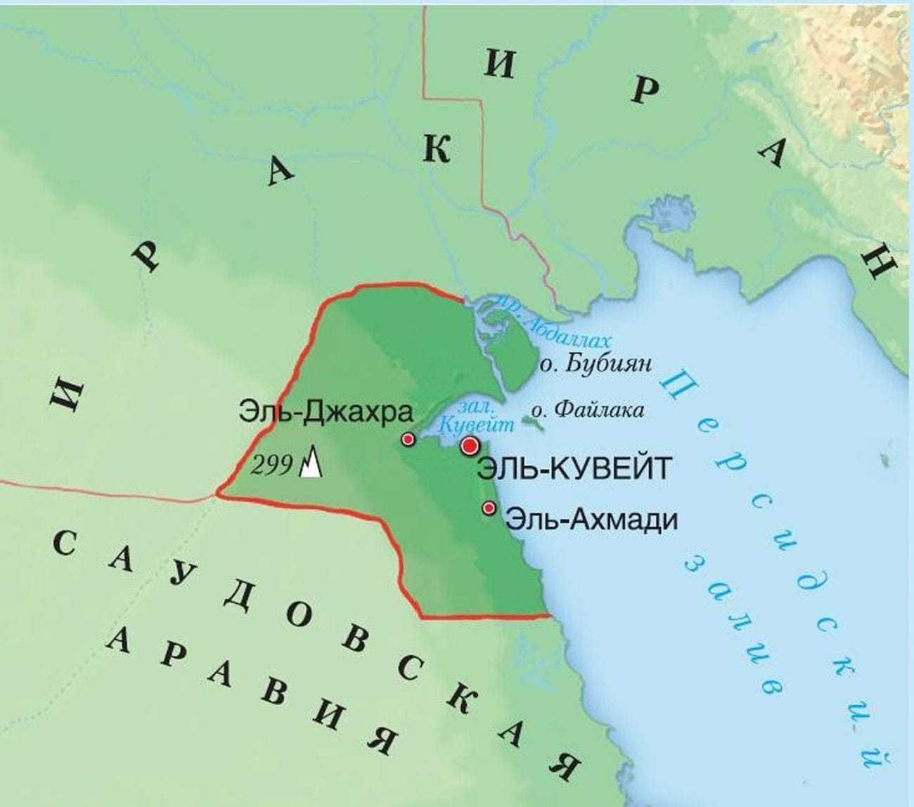 Кувейт карта