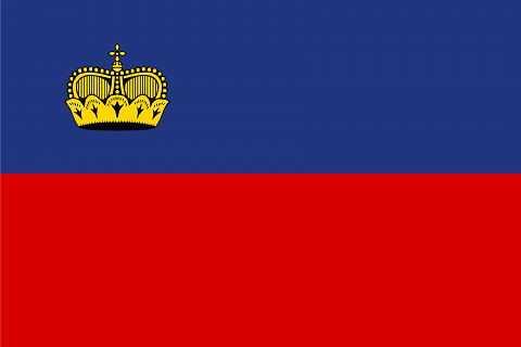 Лихтенштейн флаг