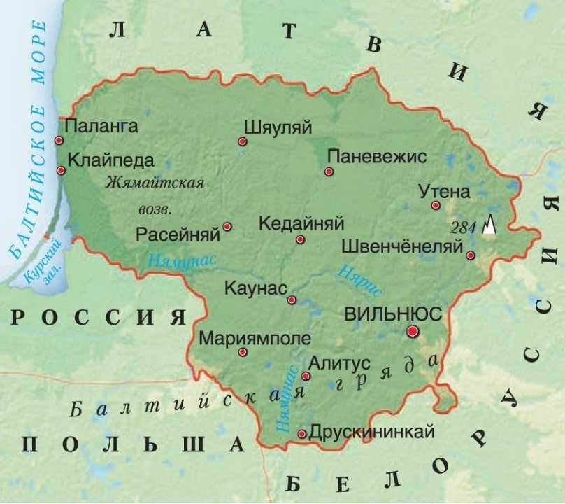 Литва карта