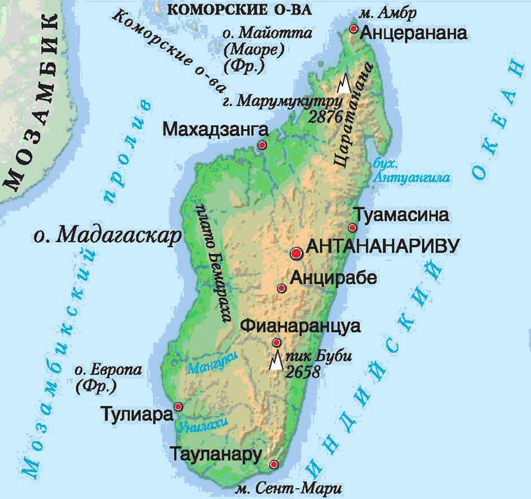 Мадагаскар карта
