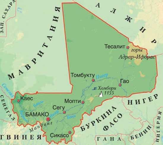 Мали карта