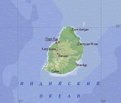 Маврикий карта