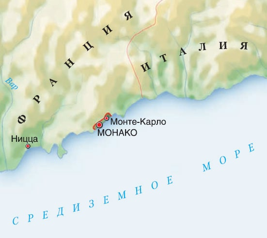 Монако карта