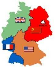 Оккупационные зоны союзников в Германии