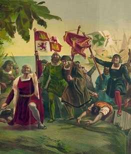Прибытие Колумба на остров Эспаньолаа