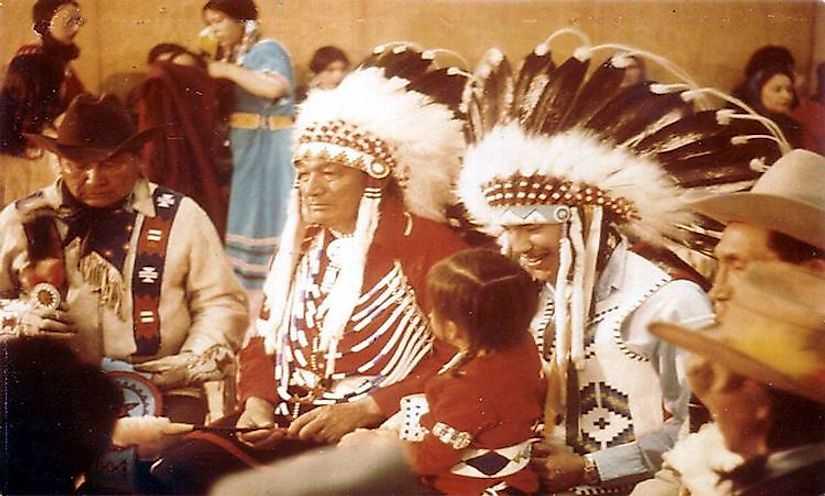 Племя черноногих индейцев