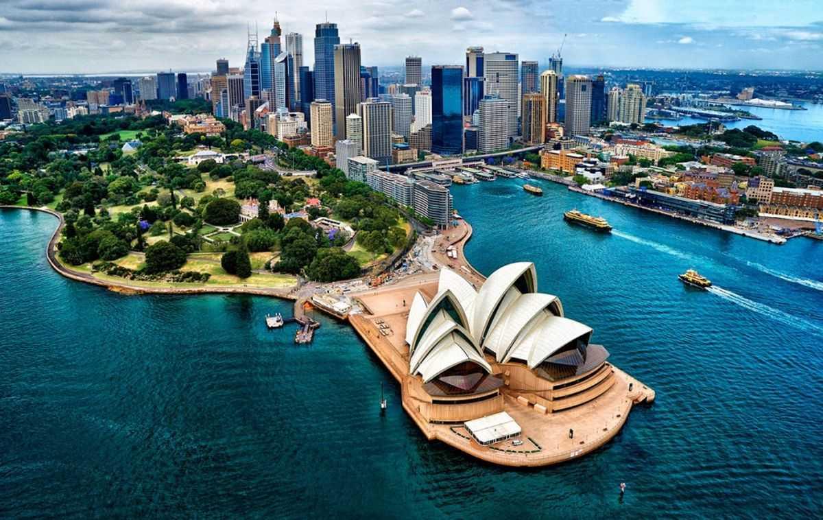 Здравствуйте. Австралия, Сидней бухта.