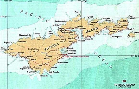 Карта Американского Самоа