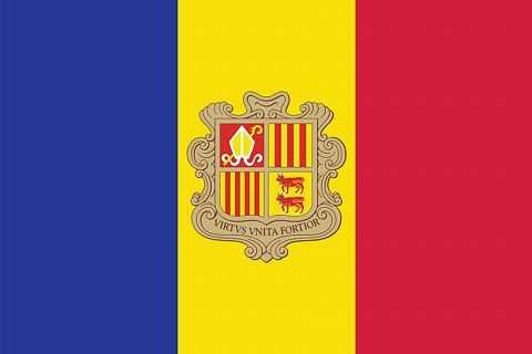 Флаг государстваа Андорры.