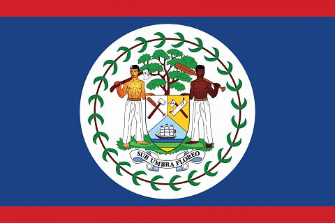 Флаг государства Белиз