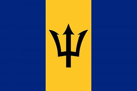 Флаг государства Барбадос