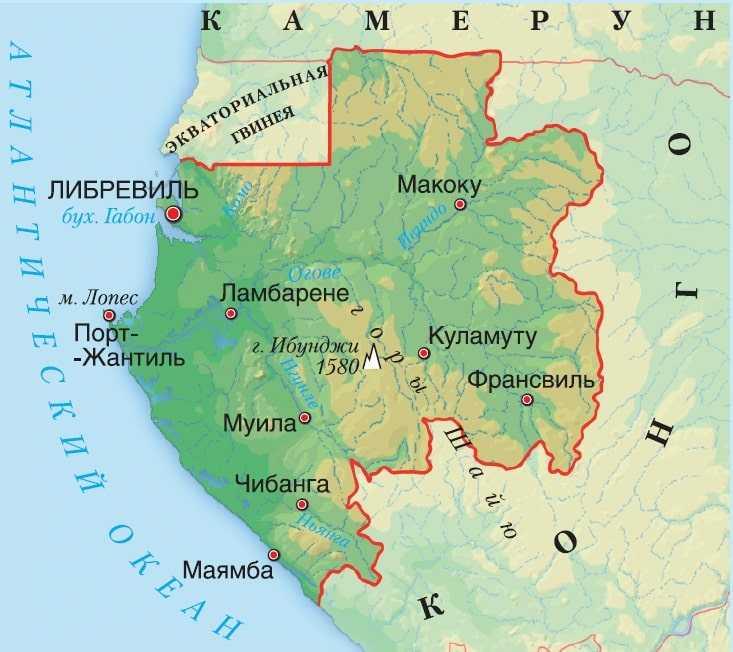 Карта Габона