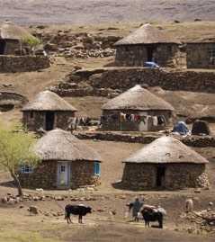 Лесото хижины
